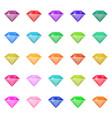 diamond in flat design vector image