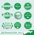 Golf Championship Labels vector image