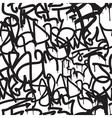 Graffiti background seamless pattern vector image