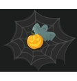 Halloween Poster with pumpkin web and ghost vector image