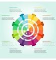 Modern infographics design vector image