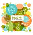 Raw Vegan Organic fresh vegetables doodles vector image