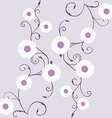 Tapestry with white gerbera over mauve background vector image