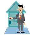 people and the keys to the apartment vector image