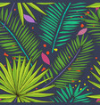 floral seamless pattern collection with tropical vector image