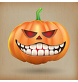 Sneer pumpkin vintage background vector image