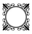 circle ornamental decorative frame vector image