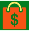 Shopping icon from Business Bicolor Set vector image