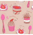 Fruit Cakes Pattern vector image
