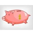 cartoons decoration piggy bank vector image
