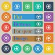 cogwheel icon sign Set of twenty colored flat vector image
