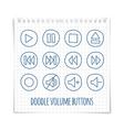 Doodle volume button vector image