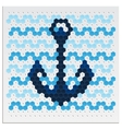 Mosaic Anchor vector image