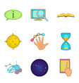 problem solving icons set cartoon style vector image