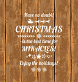 Retro Christmas Greeting Card With Typography Text vector image