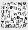 doodled icons2 vector image vector image