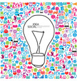 pencil draw lamp template design with social vector image vector image