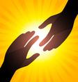 solar handshake vector image vector image