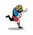 rugby charging player vector image vector image