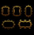 antique golden frames vector image