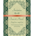 Baroque invitation green vector image
