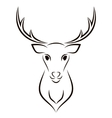 Beautiful Deer Head Object vector image