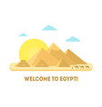 cartoon pyramid symbol of egypt background tourism vector image