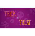 Halloween trick or treat card vector image