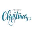 Merry christmas handwritten text vector image