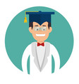 student graduation easy learning vector image
