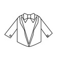 suit with bowtie icon image vector image
