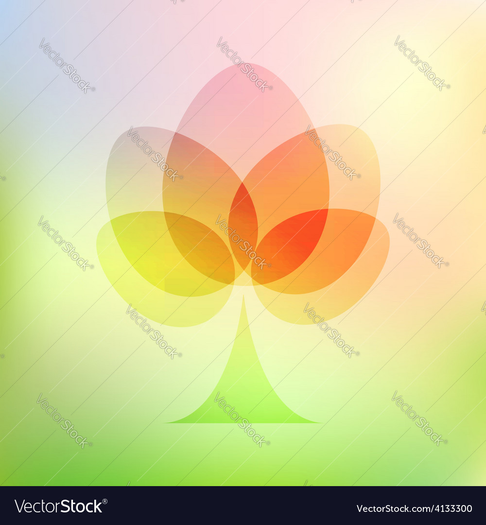 Easter eggs tree on mesh vector
