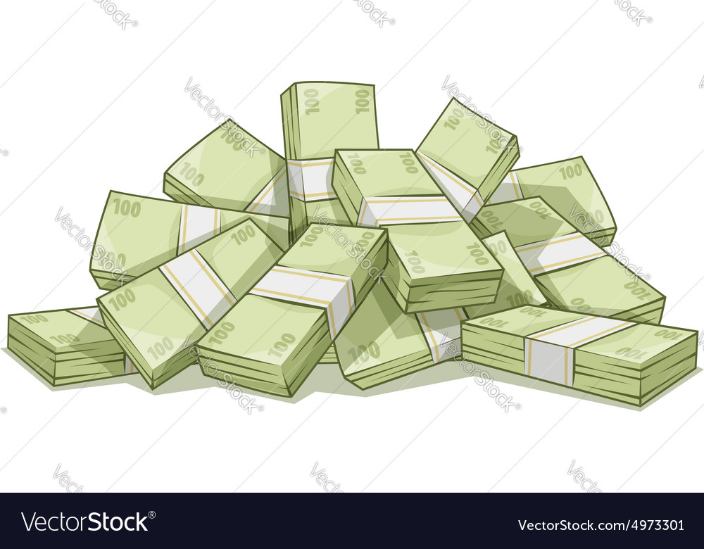 Hill of bundles with money vector