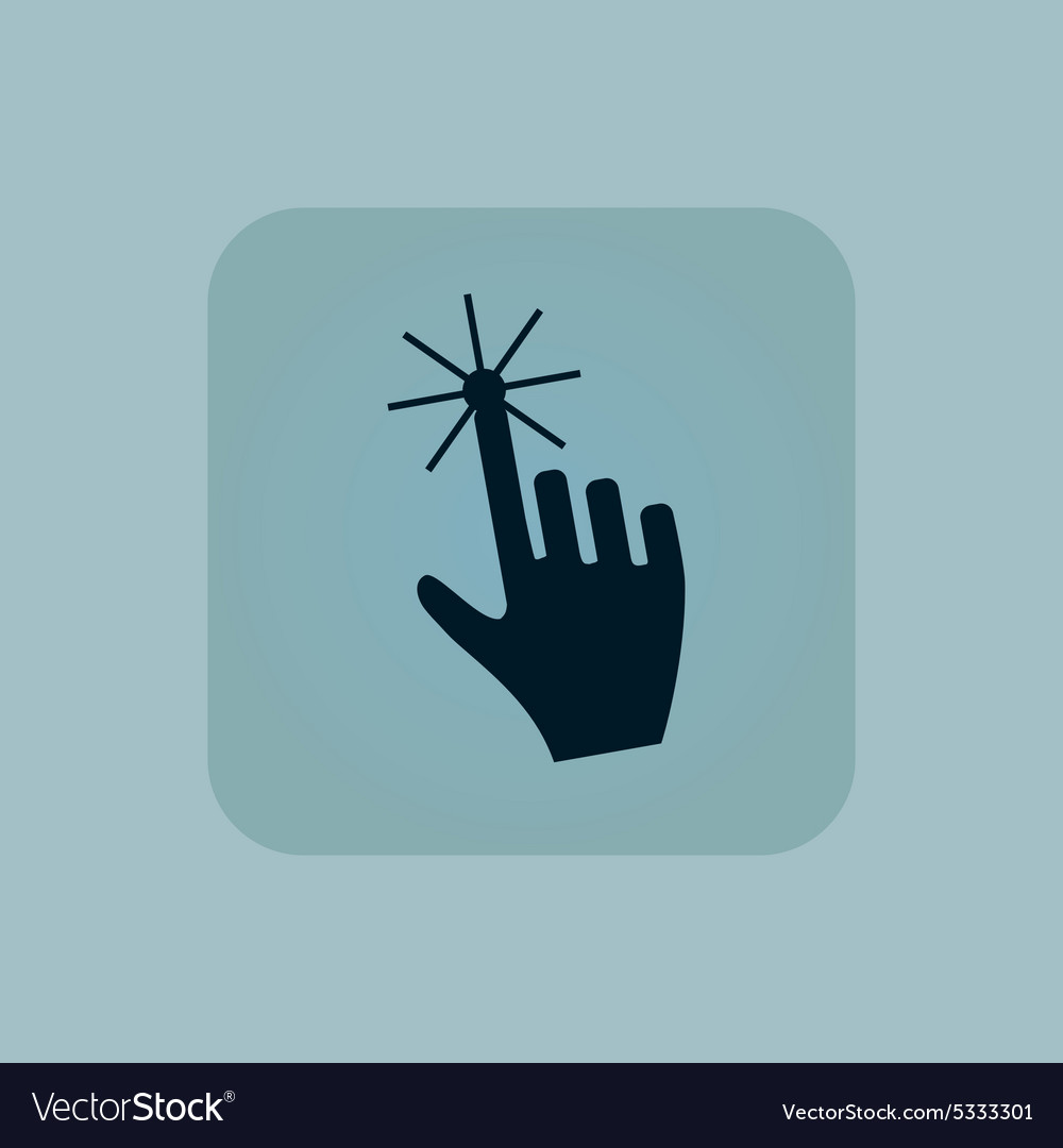 Pale blue hand cursor icon vector