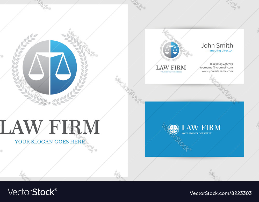 Blue law logo with scales vector