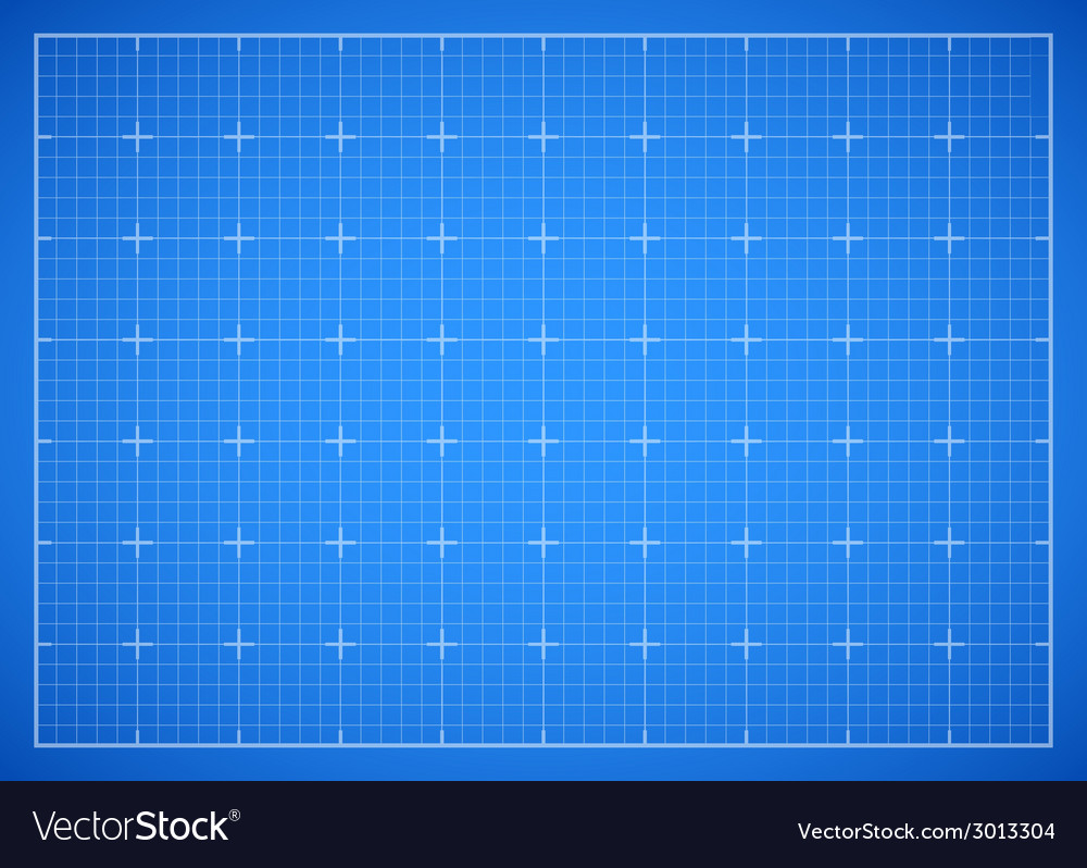 Blue square grid blueprint vector