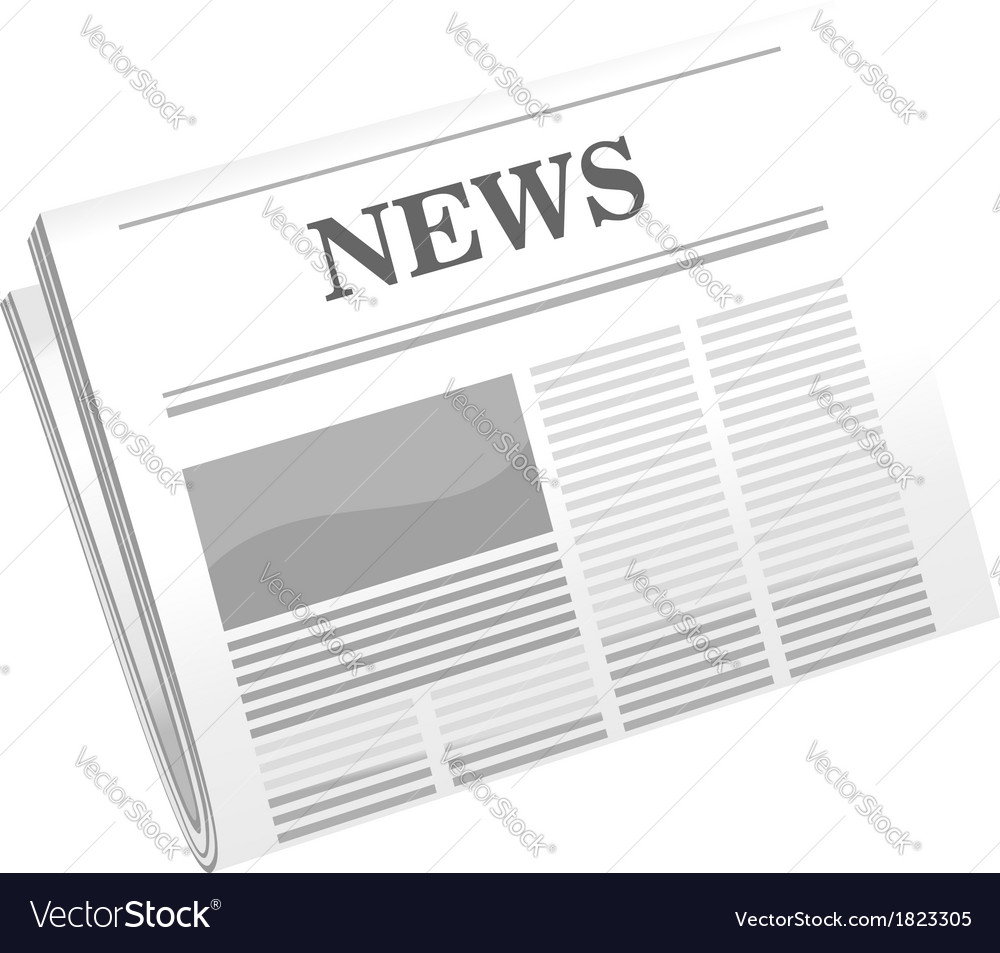 Folded newspaper vector