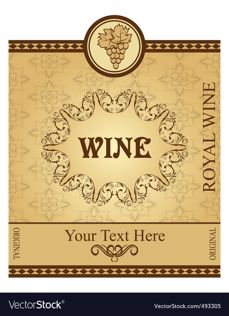 Retro packing for wine vector