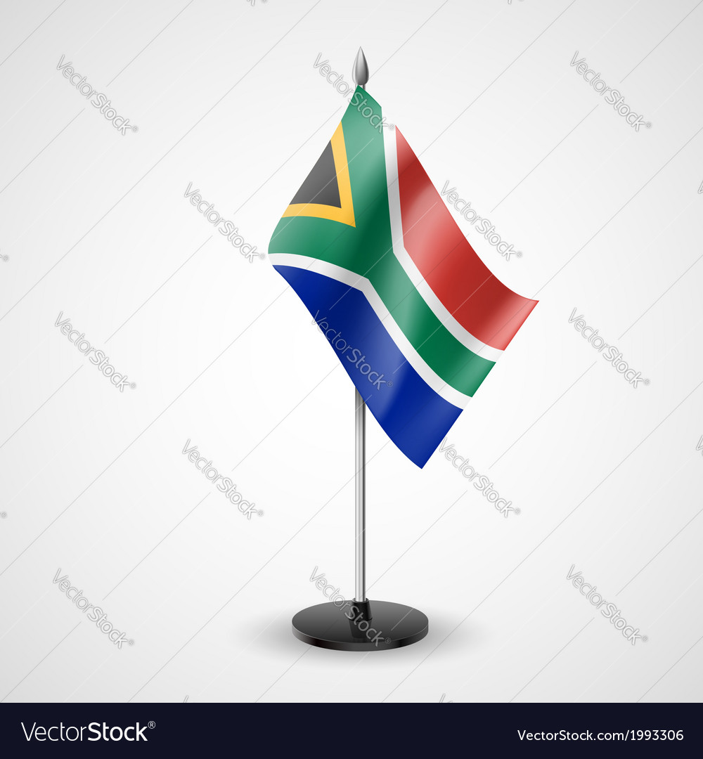 Table flag of south africa vector