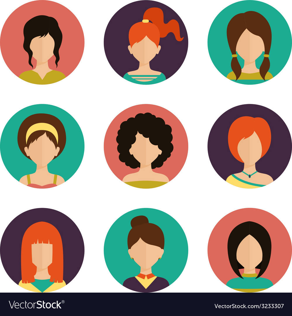 Women avatar set vector