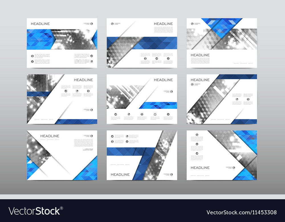 Brochure layout template flyer design vector