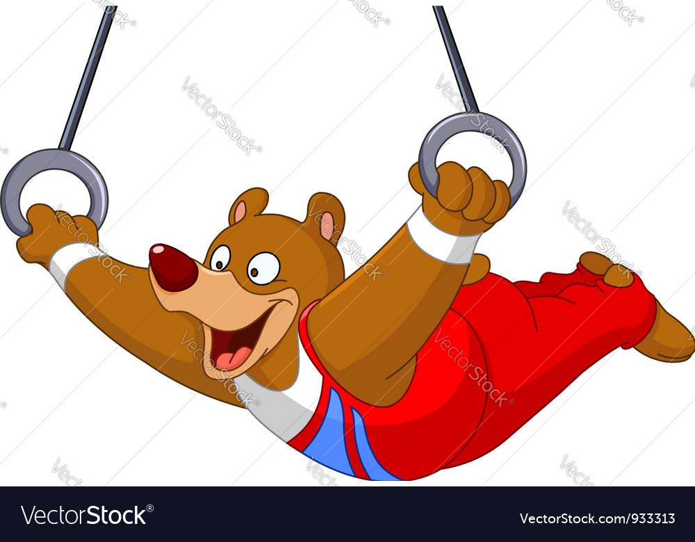 Gymnast bear vector