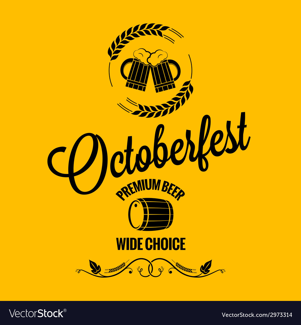 October fest beer design background vector