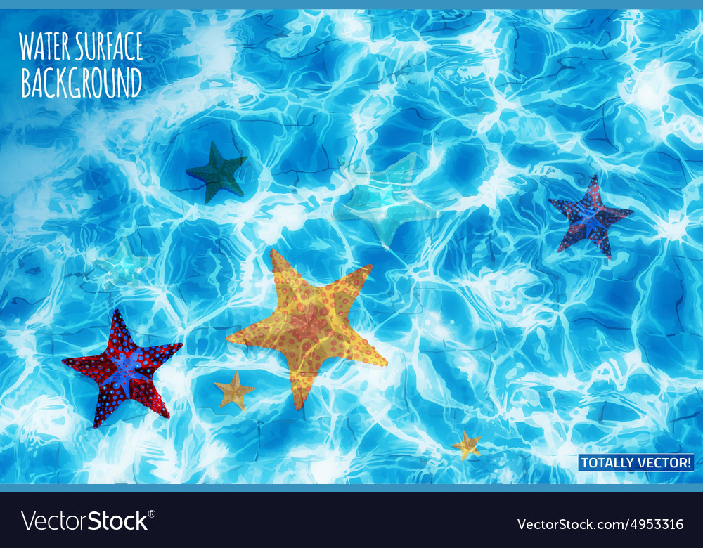 Water surface background vector