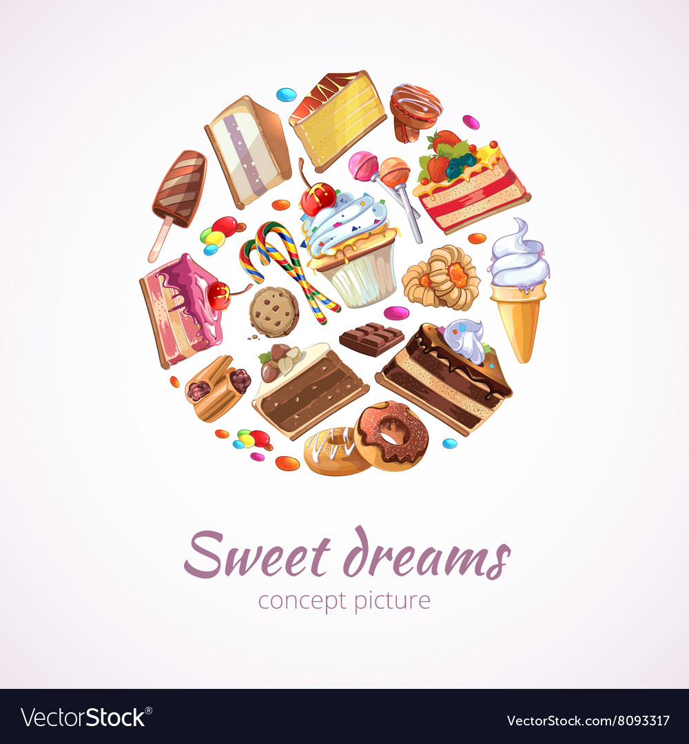 Abstract sweets background vector