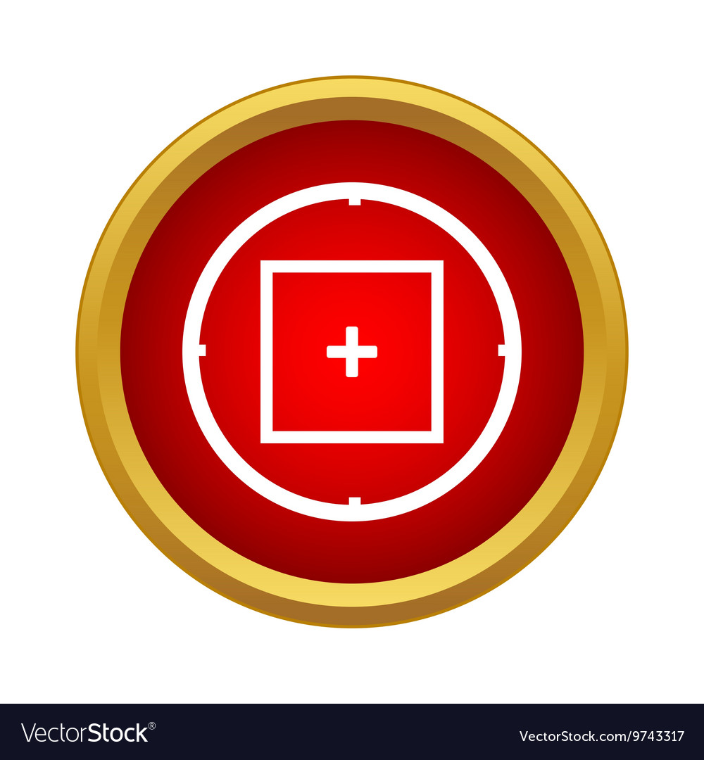 Sniper target scope or sight icon in simple style vector
