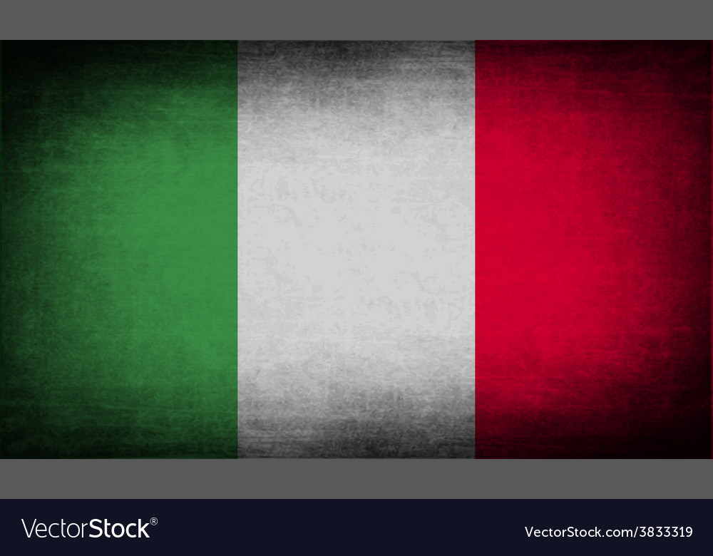 Flag of italy with old texture vector