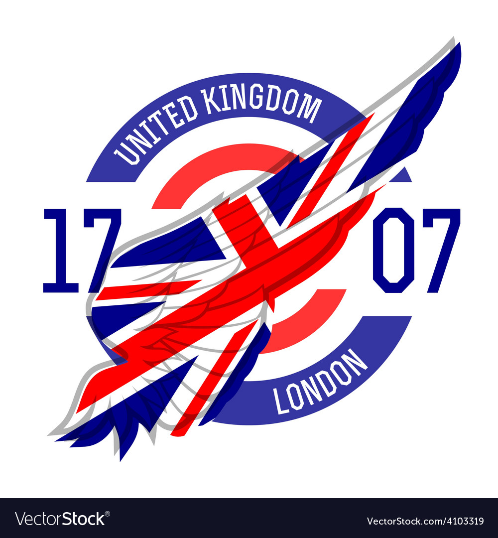 London tshirt design tee templates with wing and vector