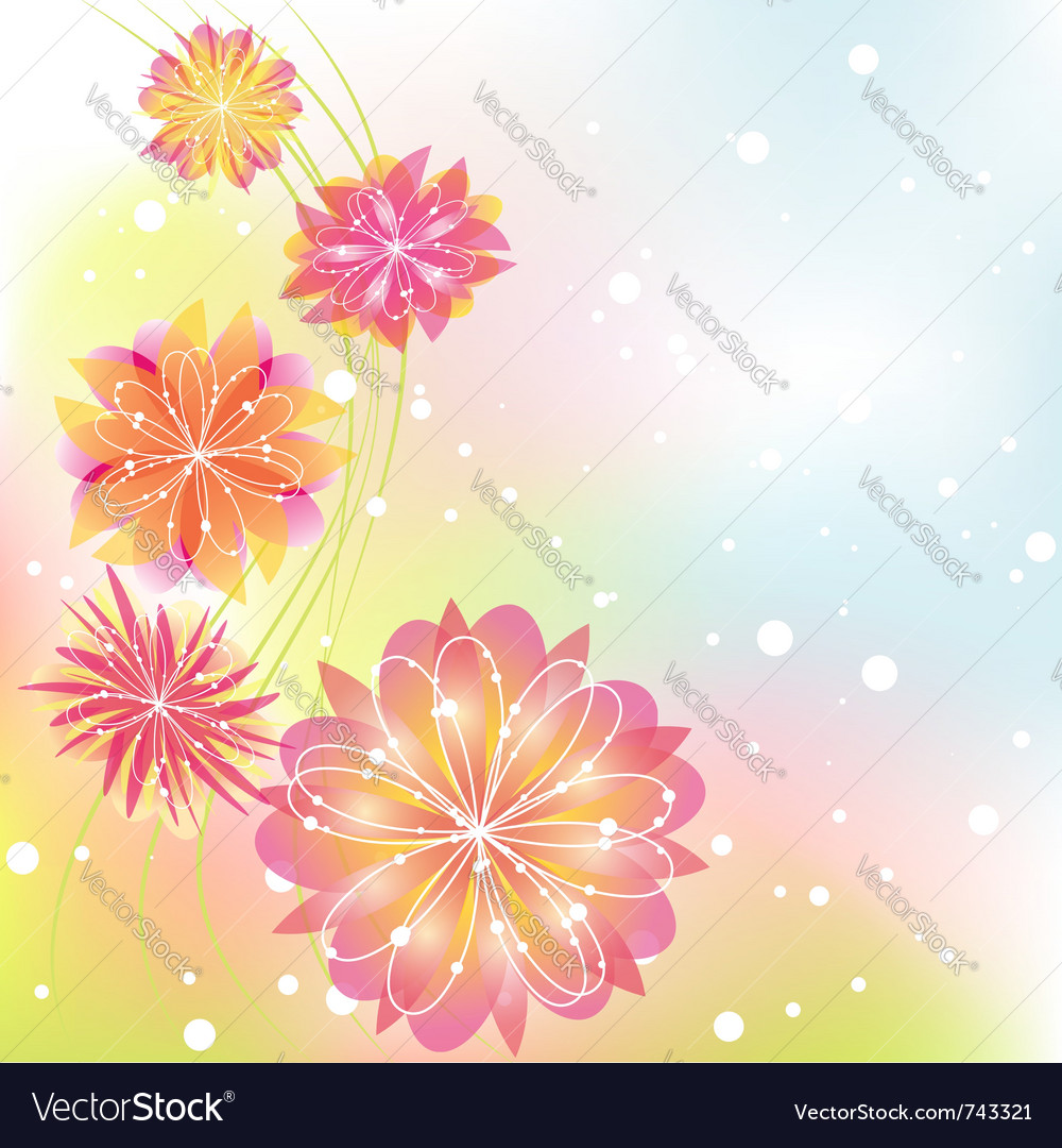 Abstract springtime flower vector