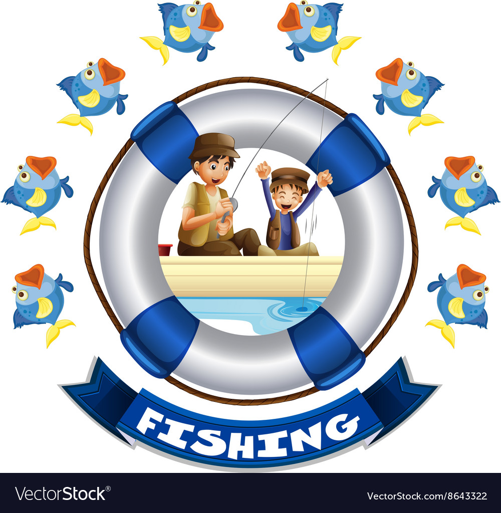 Travel theme with people fishing vector